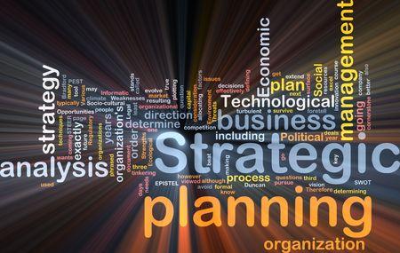planeaci�n estrategica: Cuadro de paquete de software de ilustraci�n de concepto de nube de Word de la planificaci�n estrat�gica  Foto de archivo