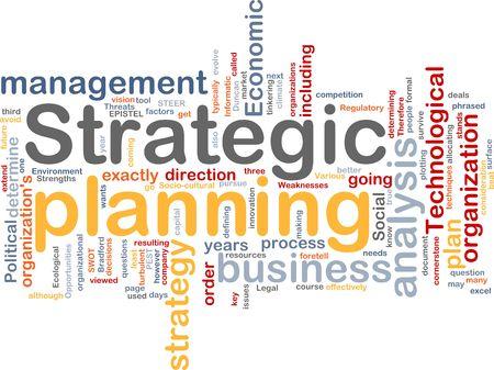 planeaci�n estrategica: Ilustraci�n de concepto de nube de Word de la planificaci�n estrat�gica