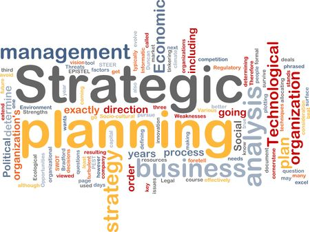 planowanie: Program Word chmura koncepcji ilustracji planowania strategicznego