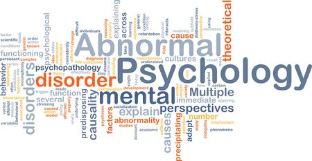 abnormal: Abnormal psychology background concept Stock Photo