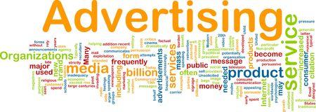Word cloud concept illustration of media advertising illustration