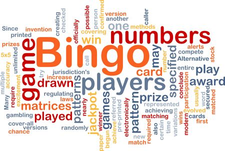 matrices: Background concept wordcloud illustration of bingo game pattern