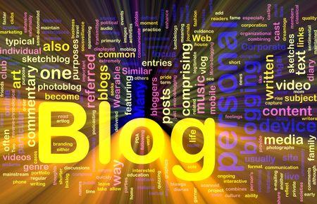 Background concept illustration of internet web blog glowing light effect