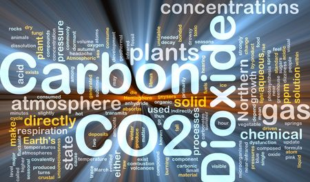 directly: Background concept illustration of carbon dioxide co2 gas glowing light