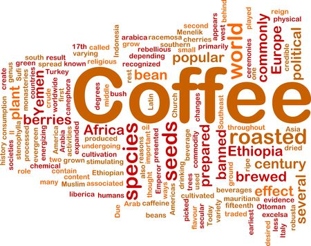 arabica: Background concept illustration of coffee beverage drink Stock Photo
