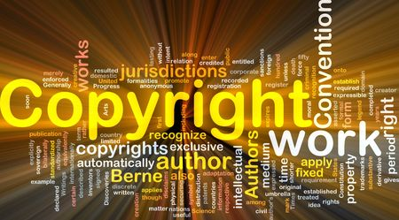 Background concept illustration of author copyright convention glowing light illustration