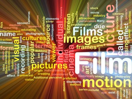 motion picture: Background concept illustration of film motion picture glowing light effect