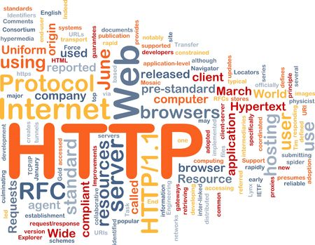 resouce: Word cloud concept illustration of web HTTP Stock Photo