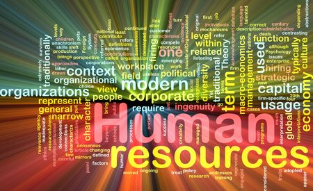 business resources: Background concept illustration of human resources management glowing light effect  Stock Photo