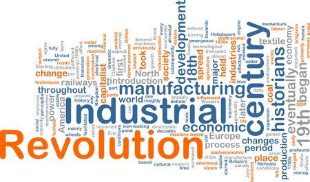 socioeconomic: Word cloud concept illustration of industrial revolution