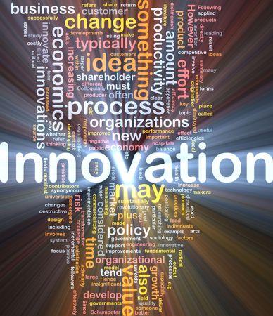 sociologia: Ilustraci�n del concepto de fondo de innovaci�n empresarial cambiar luz brillante Foto de archivo