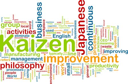 continuous: Word cloud concept illustration of kaizen improvement