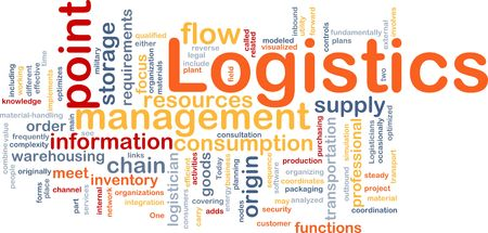 optimal: Word cloud concept illustration of logistics management