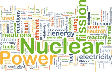 atomic nucleus: Background concept illustration of nuclear power energy Stock Photo
