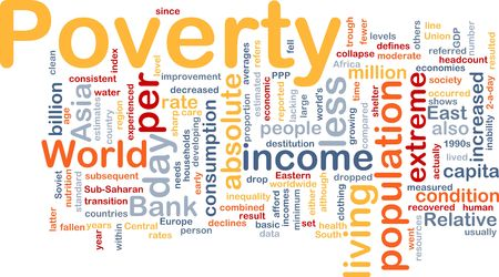 minimum wage: Word cloud concept illustration of income poverty