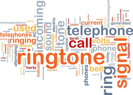 Word cloud concept illustration of telephone ringtone Stock Illustration - 6165613