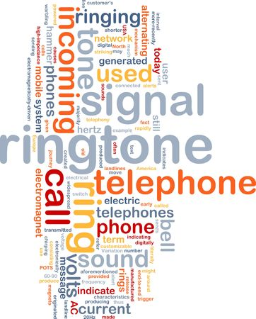 ringtone: Word cloud concept illustration of telephone ringtone Stock Photo