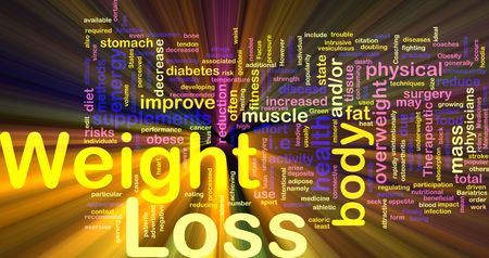 Background concept illustration of weight loss diet glowing light effect  illustration