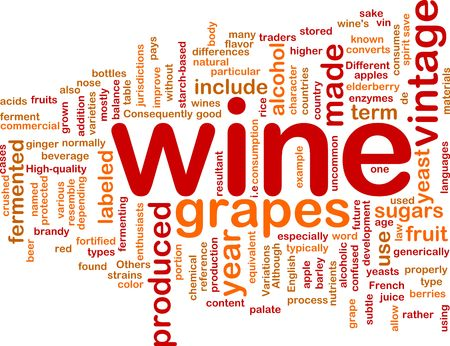 enzymes: Background concept illustration of grape wine vintage Stock Photo