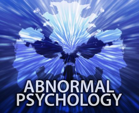 Psychiatric treatment abnormal psychology rorschach inkblot concept background photo