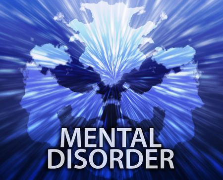 psychiatric: Psychiatric treatment mental disorder rorschach inkblot concept background