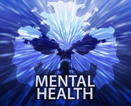 medical evaluation: Psychiatric treatment mental health rorschach inkblot concept background
