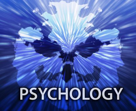 Psychiatric treatment psychology rorschach inkblot concept background  photo