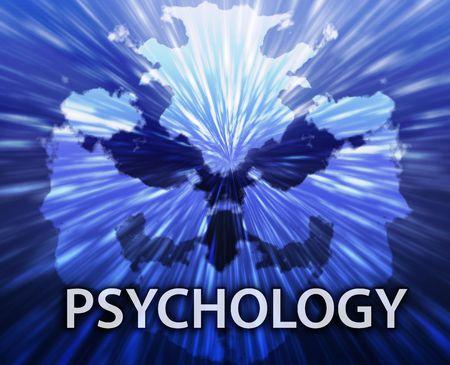 psychiatric: Psychiatric treatment psychology rorschach inkblot concept background
