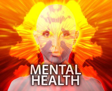 psychiatric: Female psychiatric treatment mental health rorschach inkblot concept Stock Photo