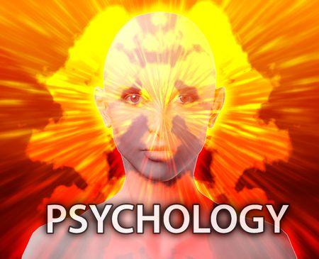 psychiatrique: Un traitement psychiatrique femelle psychopathologie psychologie rorschach inkblot concept  Banque d'images