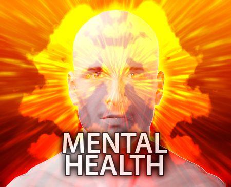 medical evaluation: Male psychiatric treatment mental health rorschach inkblot concept