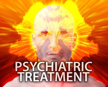 psychiatric: Male psychiatric treatment mental health rorschach inkblot concept