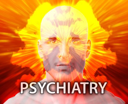 medical evaluation: Male psychiatry treatment mental health rorschach inkblot concept