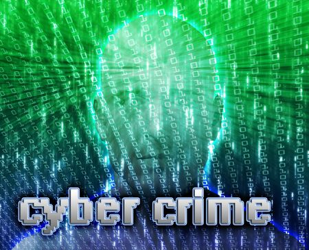 cyber crime: Cyber crime online fraud identity theft illustration