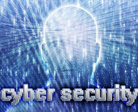 organized crime: Cyber crime online fraud identity theft illustration