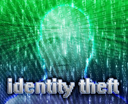 Cyber crime online fraud identity theft illustration illustration