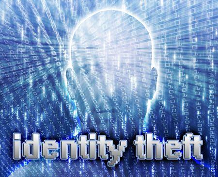 fraudulent: Cyber crime online fraud identity theft illustration