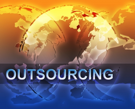 multinational: Outsourcing globalization international free trade economy illustration with globes