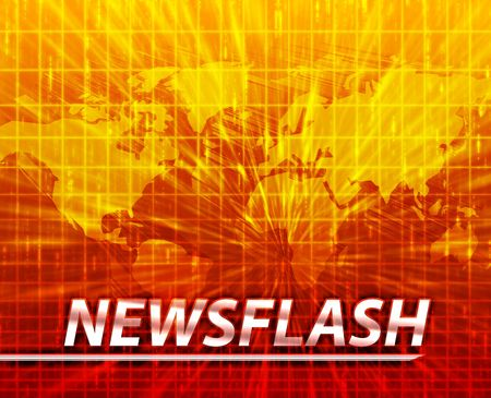 news update: Latest breaking news newsflash splash screen announcement illustration