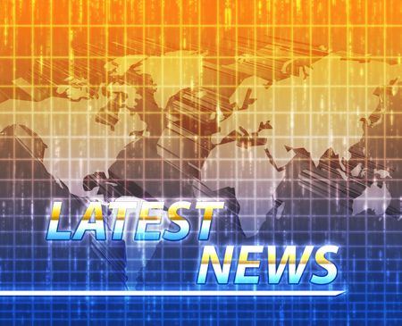 Latest breaking news newsflash splash screen announcement illustration Stock Illustration - 6165709