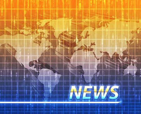 Latest breaking news newsflash splash screen announcement illustration Stock Illustration - 6165689