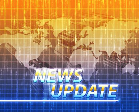 Latest breaking news newsflash splash screen announcement illustration Stock Illustration - 6165712