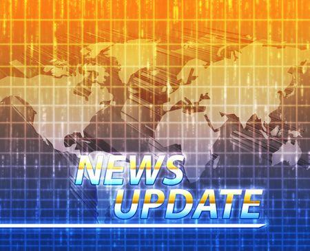 Latest breaking news newsflash splash screen announcement illustration Stock Illustration - 6165712