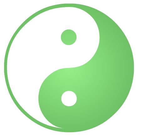 yan yang: Yin yang symbol oriental representation of duality Stock Photo