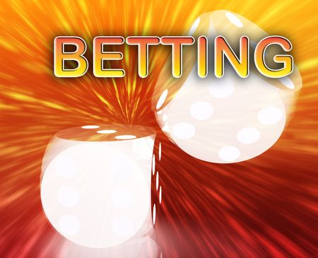 randomness: Gambling dice betting luck concept background illustration abstract