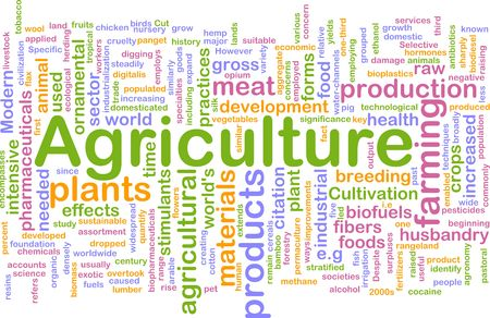 world agricultural: Word cloud concept illustration of agriculture farming