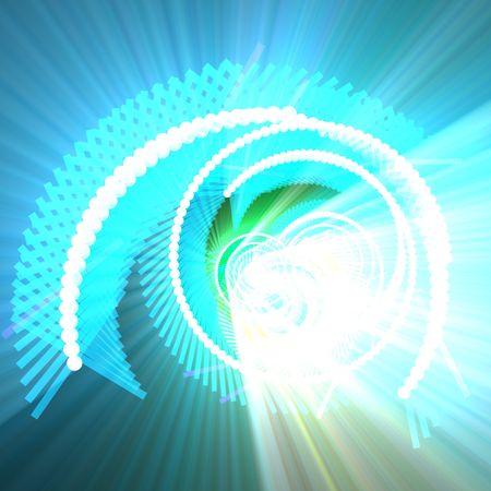 Spiral of glowing communications fiber optics internet data concept background glowing light