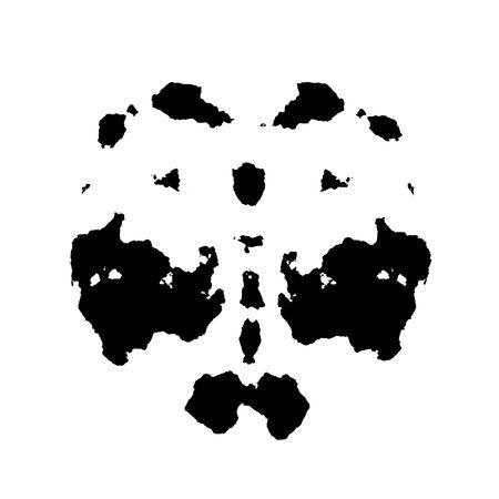 Rorschach inkblot test illustration, random abstract design illustration