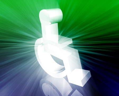 designation: Handicap symbol illustration icon of wheelchair clipart Stock Photo