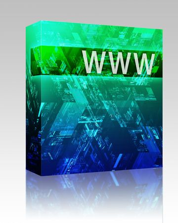 Software package box Data internet abstract illustrating electronic information concepts photo